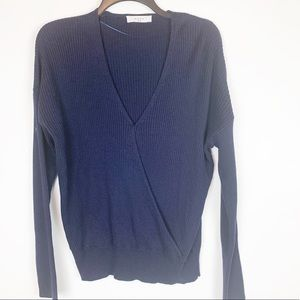 ELODIE WRAP STYLE RIBBED SWEATER SIZE XL